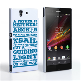 Caseflex Father Sail Quote Sony Xperia Z Case