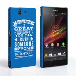 Caseflex Fatherhood Funny Quote Sony Xperia Z Case – Blue