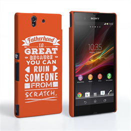 Caseflex Fatherhood Funny Quote Sony Xperia Z Case – Orange