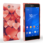 Caseflex Sony Xperia Z3 Compact Shimmering Hearts Case - Red