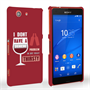 Caseflex Sony Xperia Z3 Compact 'Really Thirsty' Quote Hard Case – Red