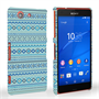 Caseflex Sony Xperia Z3 Compact Fairisle Case – Blue with Blue Background