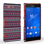 Caseflex Sony Xperia Z3 Compact Fairisle Case – Grey with Red Background