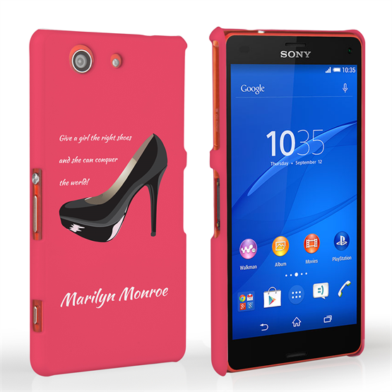 Caseflex Sony Xperia Z3 Compact Marilyn Monroe 'Shoe' Quote Case