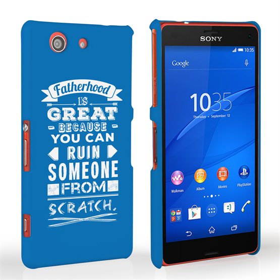 Caseflex Fatherhood Funny Quote Sony Xperia Z3 Compact Case – Blue