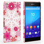 Caseflex Sony Xperia Z3+ Winter Christmas Snowflake Hard Case - Red / Pink