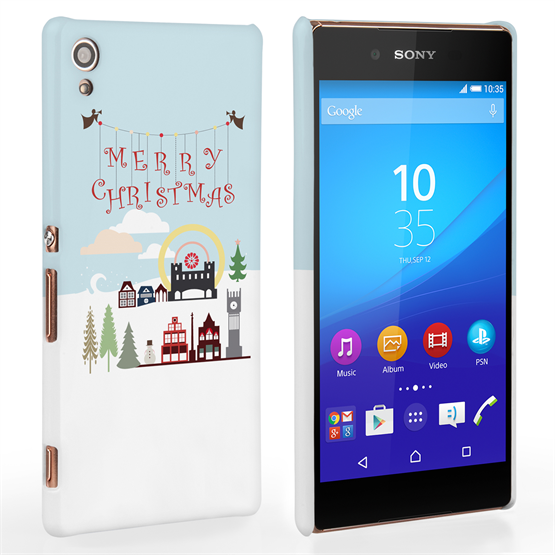 Caseflex Sony Xperia Z3+  Merry Christmas Pattern Hard Case