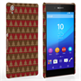 Caseflex Sony Xperia Z3+ Christmas Tree Knit Jumper Hard Case - Brown / Red