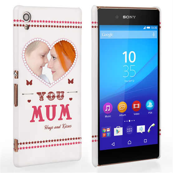 Caseflex Sony Xperia Z3 Plus 'Love You Mum' Personalised Hard Case – Pink