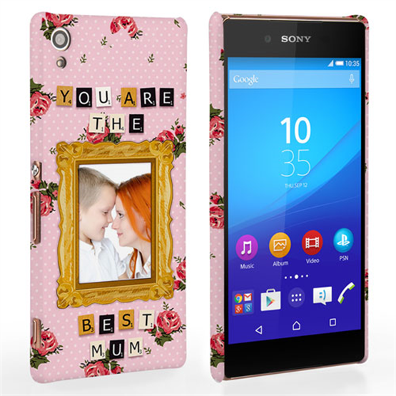 Caseflex Sony Xperia Z3 Plus 'You are the best Mum' Personalised Hard Case – Pink