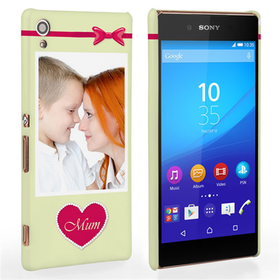 Caseflex Sony Xperia Z3 Plus Mum Heart Personalised Hard Case – Pink