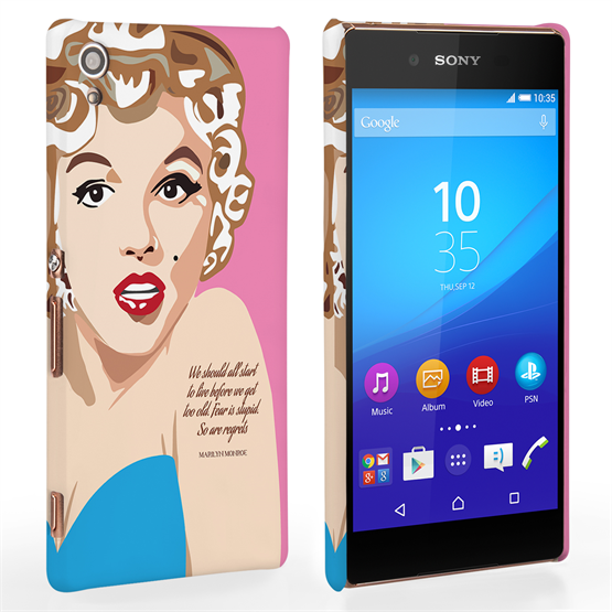 Caseflex Sony Xperia Z3 Plus Marilyn Monroe 'Fear is Stupid' Quote Case