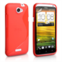 Caseflex HTC One S Silicone S-Line Case - Red