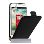 Caseflex LG L70 Real Leather Flip Case - Black