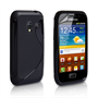 Caseflex Samsung Galaxy Ace Plus S-Line Silicone Case - Black