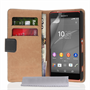 Caseflex Sony Xperia Z4 Compact Real Leather Wallet Case - Black