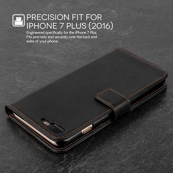 YouSave Accessories iPhone 7 Plus Leather Effect Wallet - Black