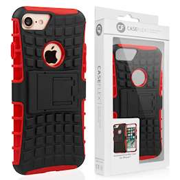 Caseflex iPhone 7 Kickstand Combo Case - Red (Retail Box)