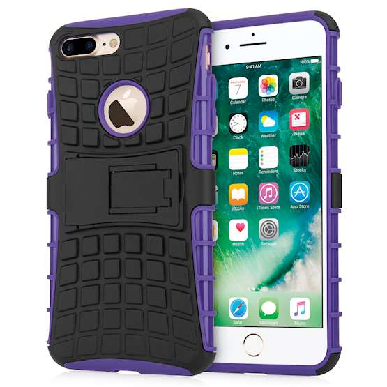 Caseflex iPhone 7 Plus Kickstand Combo Case - Purple