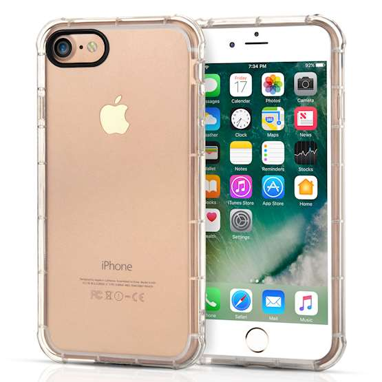 Caseflex iPhone 7 TPU Gel Case - Clear (Retail Box)