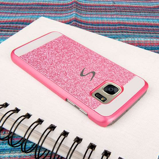 Caseflex Samsung Galaxy S7 Flash Diamond Case - Pink
