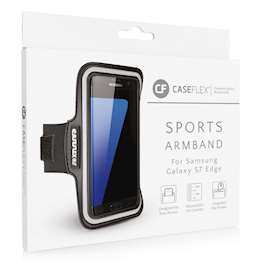Caseflex Samsung Galaxy S7 Edge Armband - Black (Retail Box)