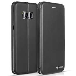 Caseflex Samsung Galaxy S8 Snap Wallet Case - Black (Retail Box)