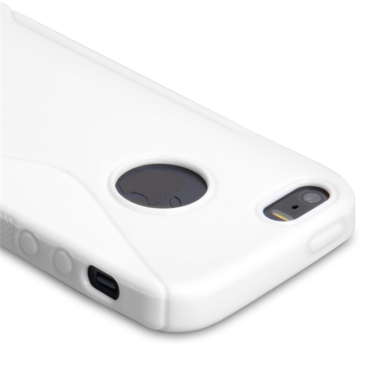 Caseflex iPhone SE S-Line Gel Case - White