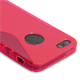 Caseflex iPhone SE S-Line Gel Case - Hot Pink