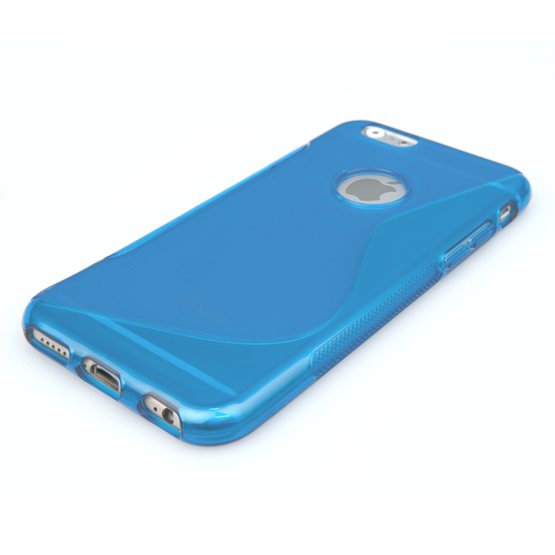 Caseflex iPhone 6 and 6s Silicone Gel S-Line Case - Blue