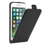 Caseflex iPhone 7 Real Leather Flip Case - Black