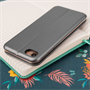 Caseflex iPhone 7 Leather-Effect  Stand Wallet with Felt Lining  - Grey