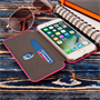 Caseflex iPhone 7 Leather-Effect  Stand Wallet with Felt Lining - Pink