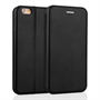 Caseflex iPhone 6 and 6s Leather-Effect  Stand Wallet with Felt Lining - Black