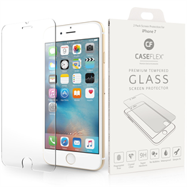 Caseflex iPhone 7 Glass Screen Protector X 2 - Clear (Retail Box)