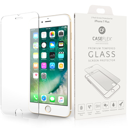 Caseflex iPhone 7 Plus Glass Screen Protector - Twin Pack (Retail Box)