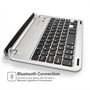Caseflex Ultra Thin Silver Bluetooth Keyboard With Magnetic Grip & Holding Stand for iPad Mini, Mini 2, & Mini 3