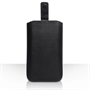 Caseflex Large Textured Faux Leather Return Phone Pouch - Black