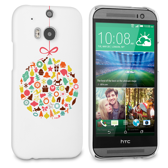 Caseflex HTC One M8 Christmas Bauble Decorations Hard Case