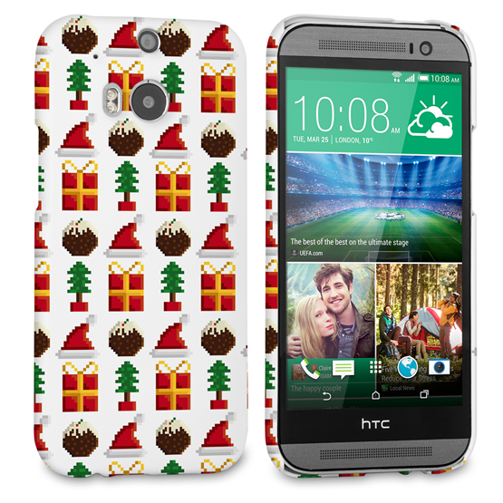 Caseflex HTC One M8 Retro Game Christmas Presents & Pudding Hard Case