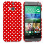 Caseflex HTC One M8 Cute Hearts Case - Red