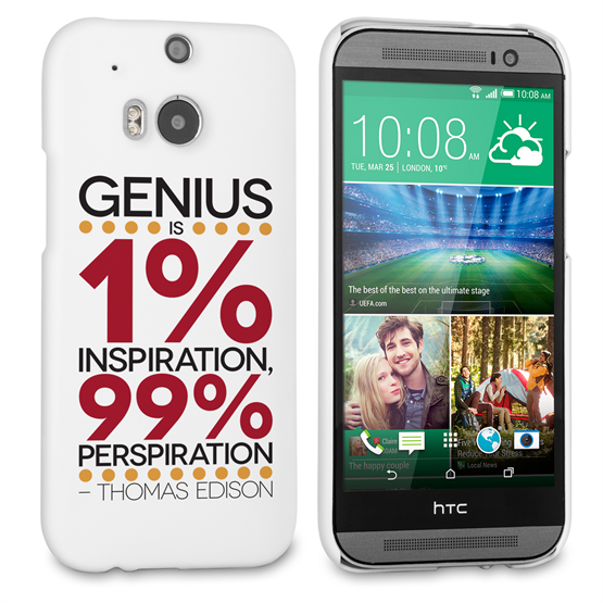 Caseflex HTC One M8 Thomas Edison Quote Case