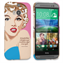 Caseflex HTC One M8 Marilyn Monroe 'Fear is Stupid' Quote Case