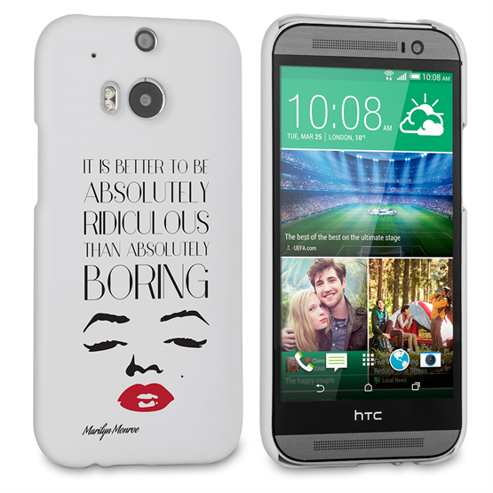 Caseflex HTC One M8 Marilyn Monroe Face Quote Case