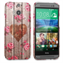 Caseflex HTC One M8 Vintage Wooden Heart Case