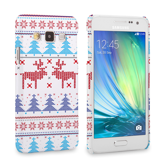 Caseflex Samsung Galaxy A3 Christmas Heart Reindeer Tree Jumper Hard Case