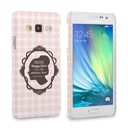 Caseflex Samsung Galaxy A3 Audrey Hepburn 'Happy Girls' Quote Case