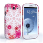 Caseflex Samsung Galaxy S3 Winter Christmas Snowflake Cover – Red