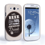 Caseflex Samsung Galaxy S3 Beer Label Quote Hard Case – Brown