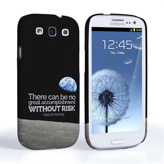 Caseflex Samsung Galaxy S3 Neil Armstrong Quote Case